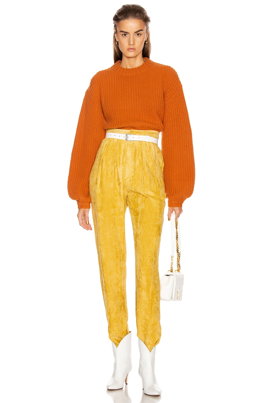 Image 4 of GRLFRND Joey Crewneck Sweater in Orange