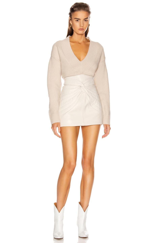 Image 4 of GRLFRND Olivia Tunic Sweater in Beige