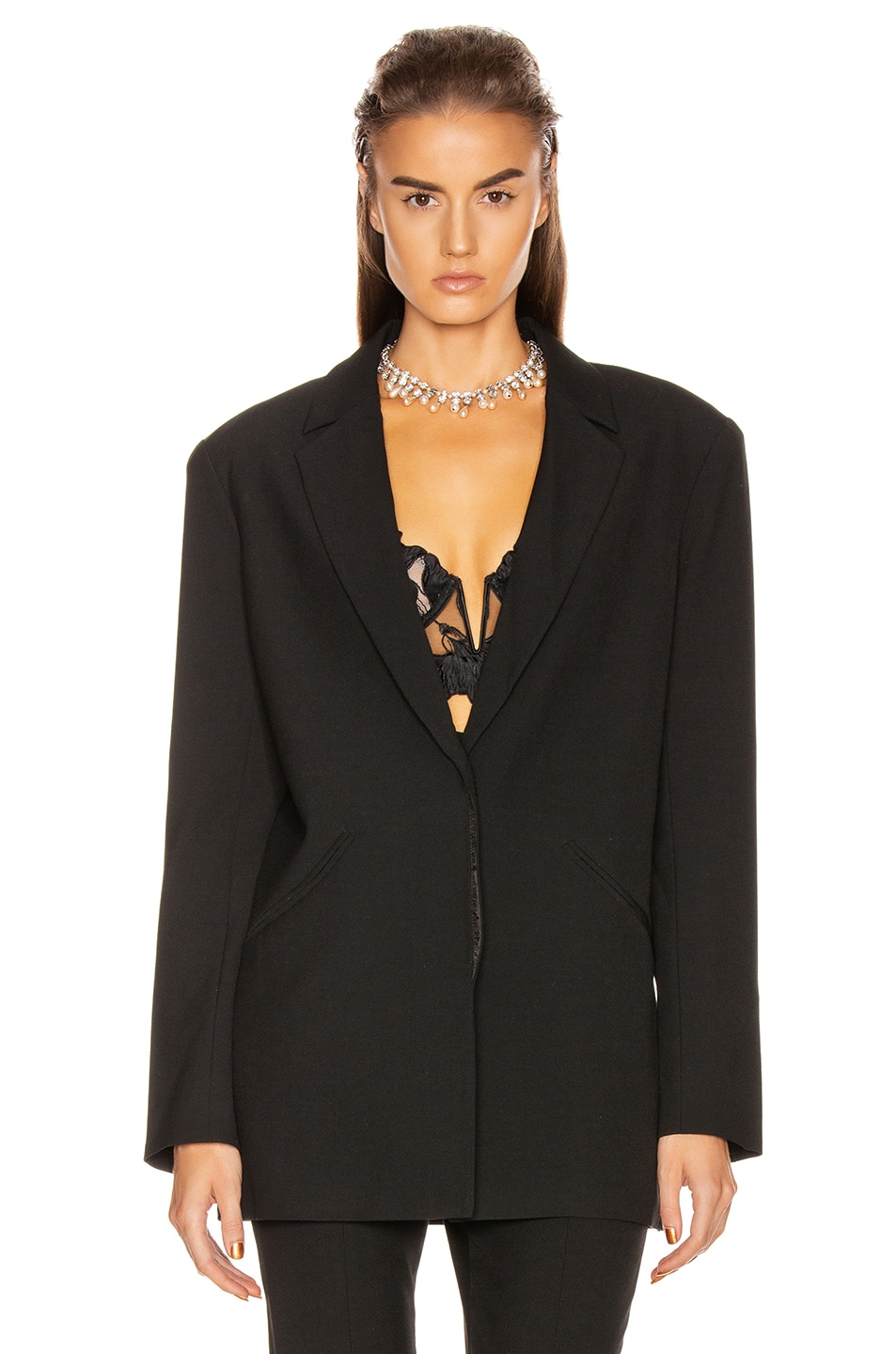 Image 2 of GRLFRND Power Blazer in Black