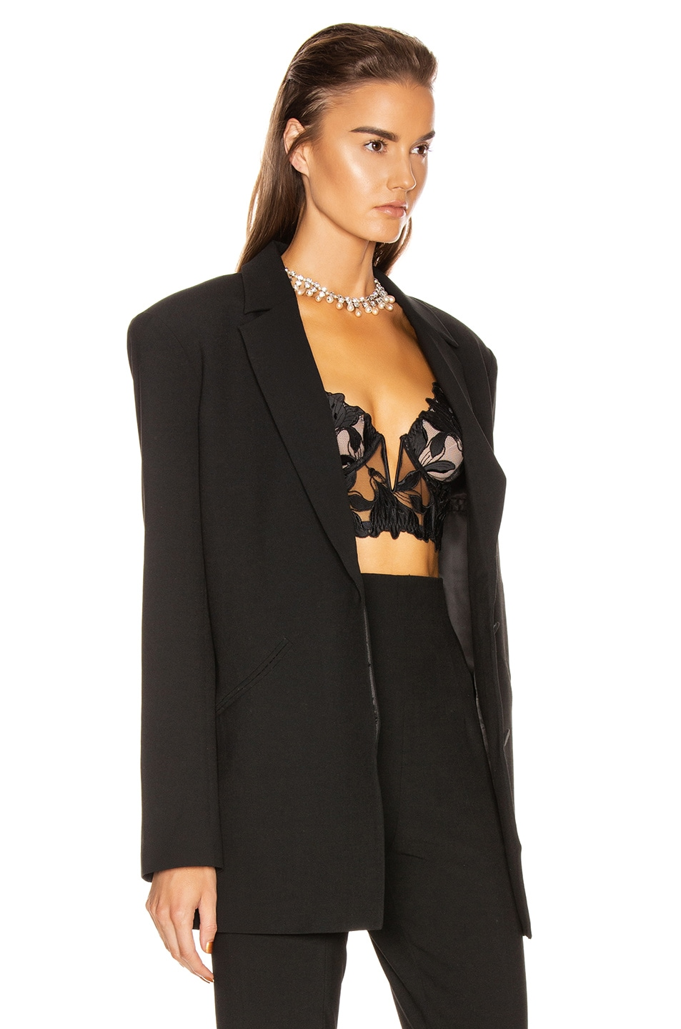 Image 3 of GRLFRND Power Blazer in Black
