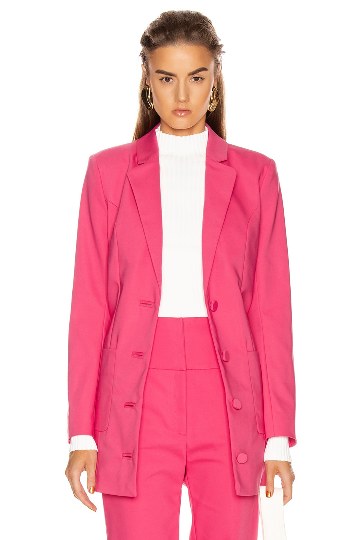 Image 2 of GRLFRND Jeane Suit Jacket in Bright Pink