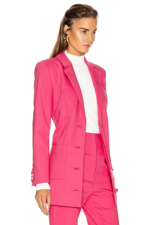 Image 3 of GRLFRND Jeane Suit Jacket in Bright Pink