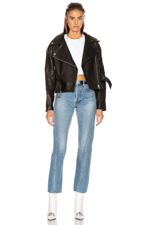 Image 5 of GRLFRND Charlie Leather Moto Jacket in Black
