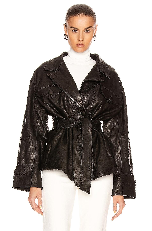 Image 1 of GRLFRND Moises Leather Jacket in Black