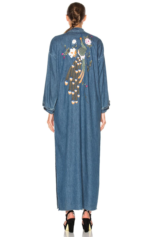 Image 6 of GRLFRND for FWRD Samantha Long Robe in Blue Velvet
