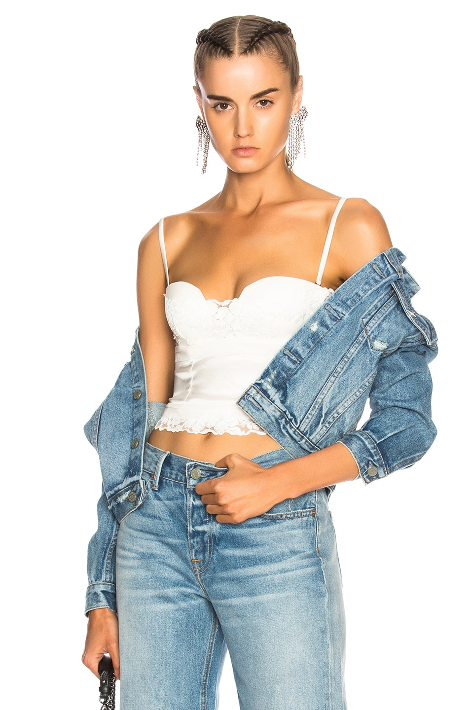 Image 2 of GRLFRND for FWRD Taylor Fitted Crop Jacket in Little Lady