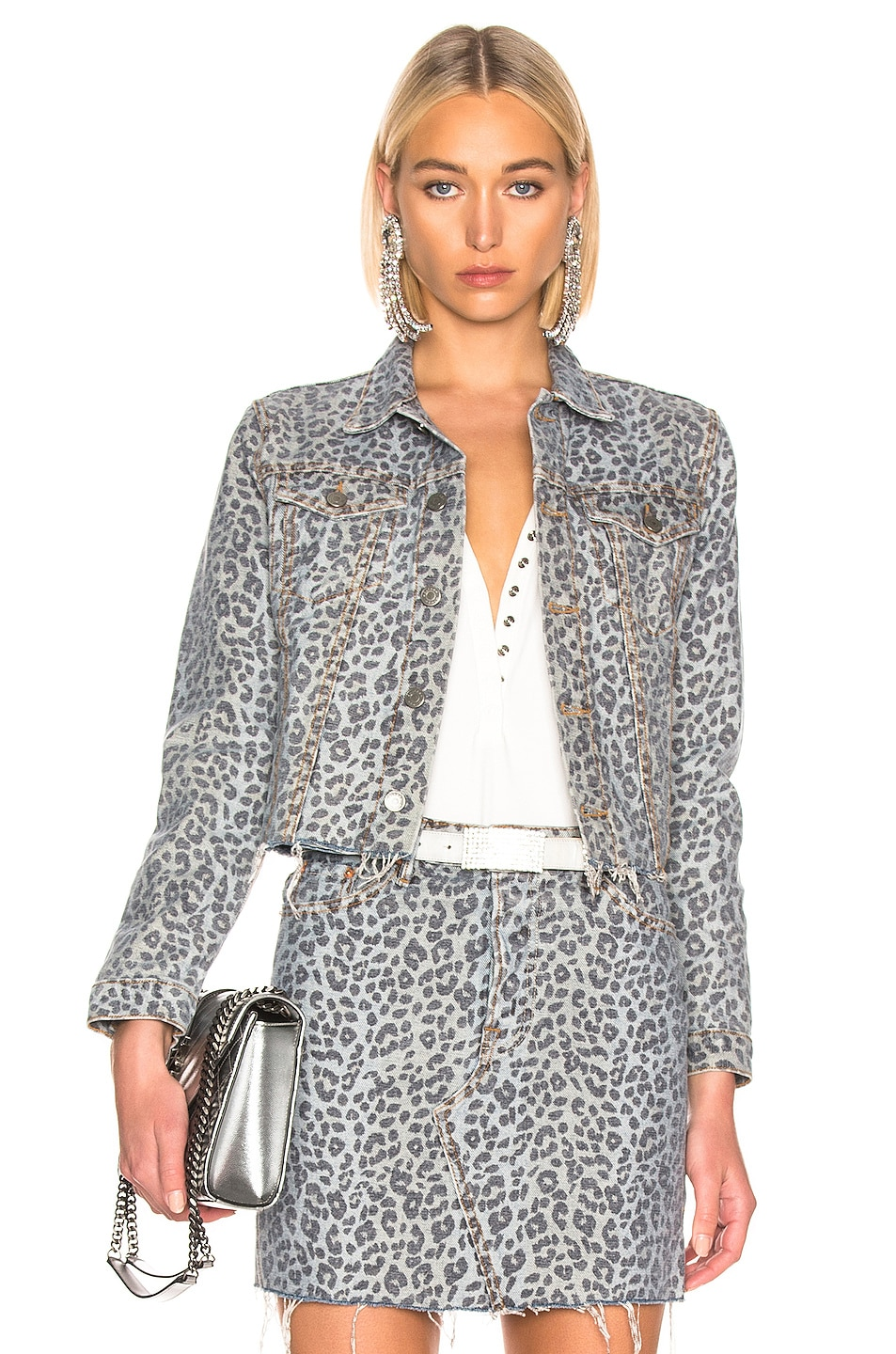 Image 1 of GRLFRND Cara Cropped Jacket in Safari