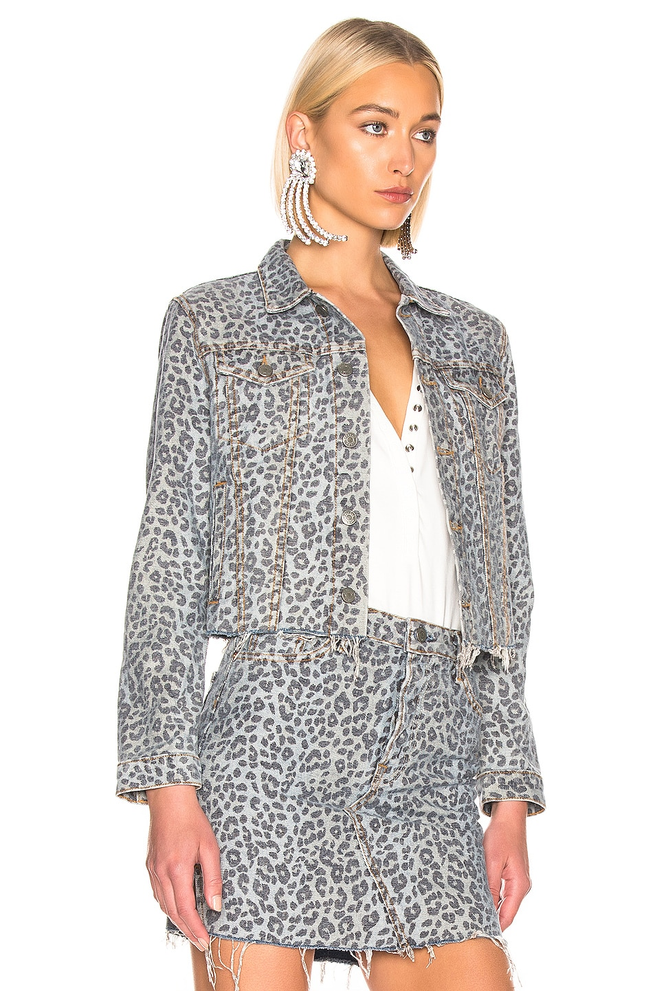 Image 2 of GRLFRND Cara Cropped Jacket in Safari