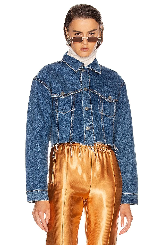 Image 1 of GRLFRND Faye Western Yoke Crop Jacket in Fast Lane