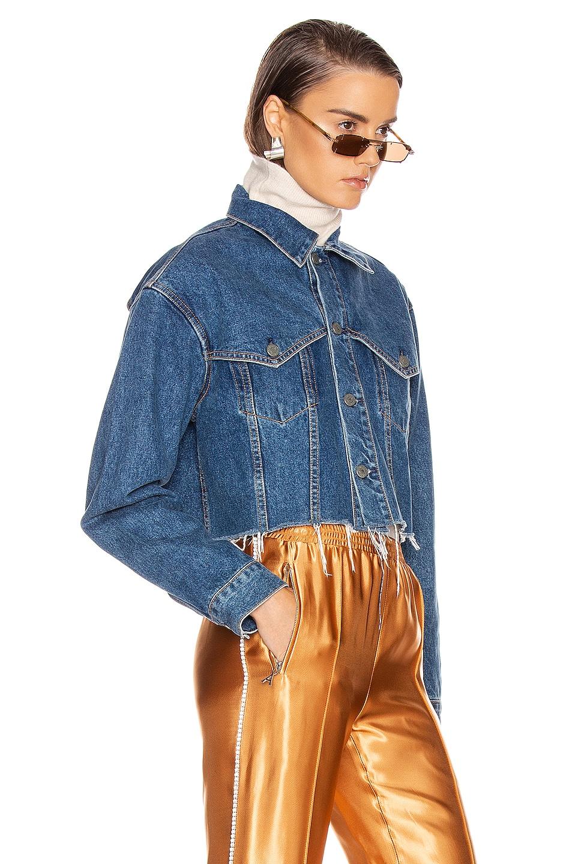 Image 2 of GRLFRND Faye Western Yoke Crop Jacket in Fast Lane