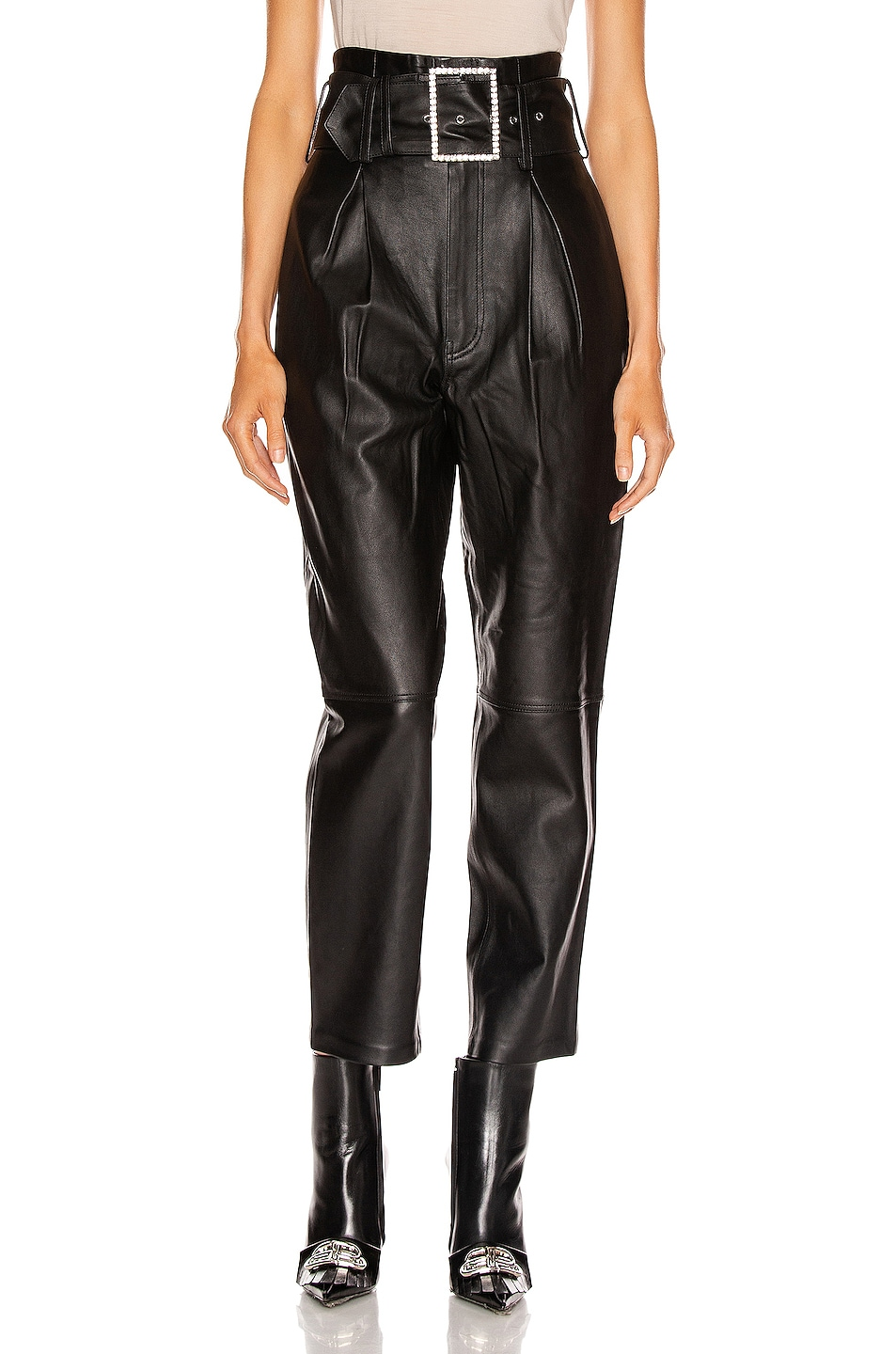Image 1 of GRLFRND Beatrice High Waist Leather Pant in Black