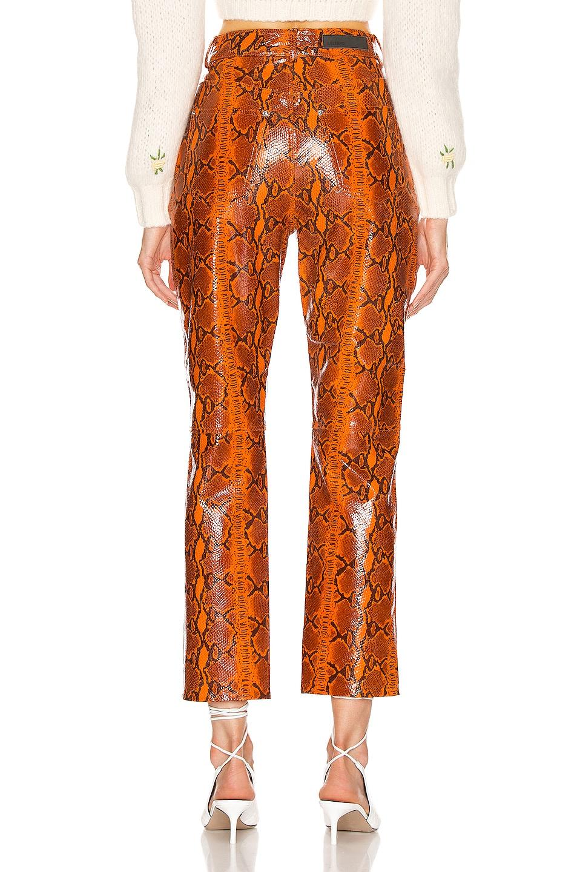 Image 3 of GRLFRND Shiloh Leather Pant in Orange Snake