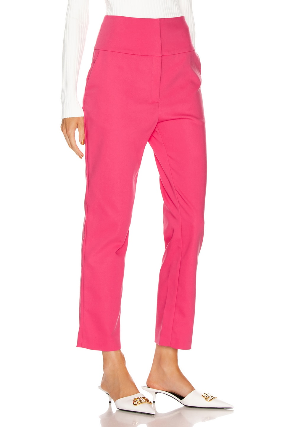 Image 2 of GRLFRND Cameron Trousers in Bright Pink