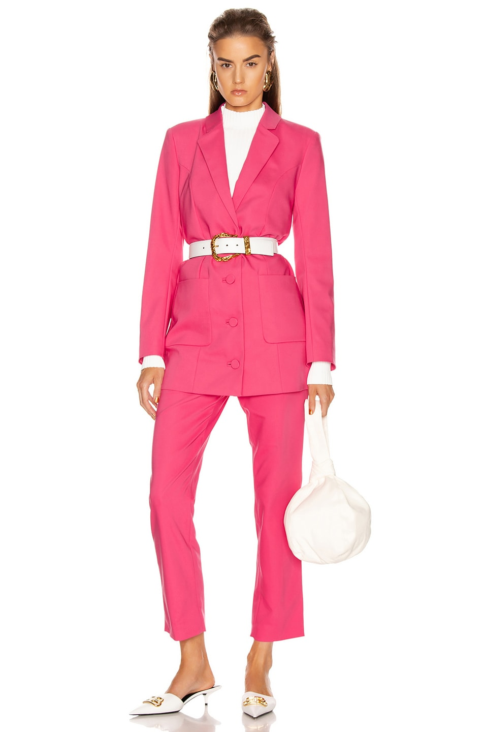 Image 4 of GRLFRND Cameron Trousers in Bright Pink