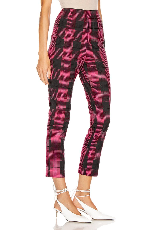 Image 2 of GRLFRND Zane High Waist Pant in Black & Pink Plaid