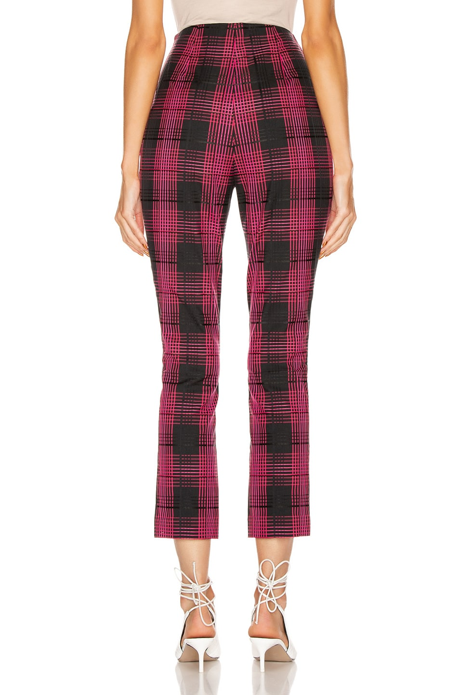 Image 3 of GRLFRND Zane High Waist Pant in Black & Pink Plaid