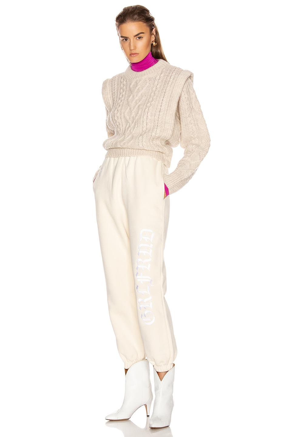 Image 5 of GRLFRND GF Joggers in Off White