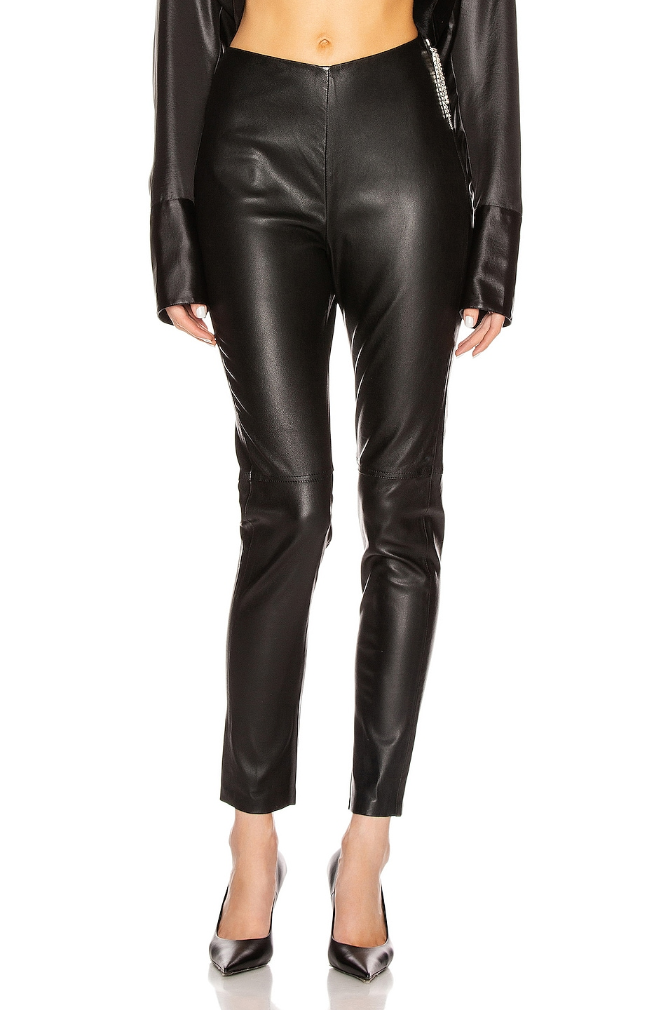 Image 1 of GRLFRND Maci Leather Legging in Black