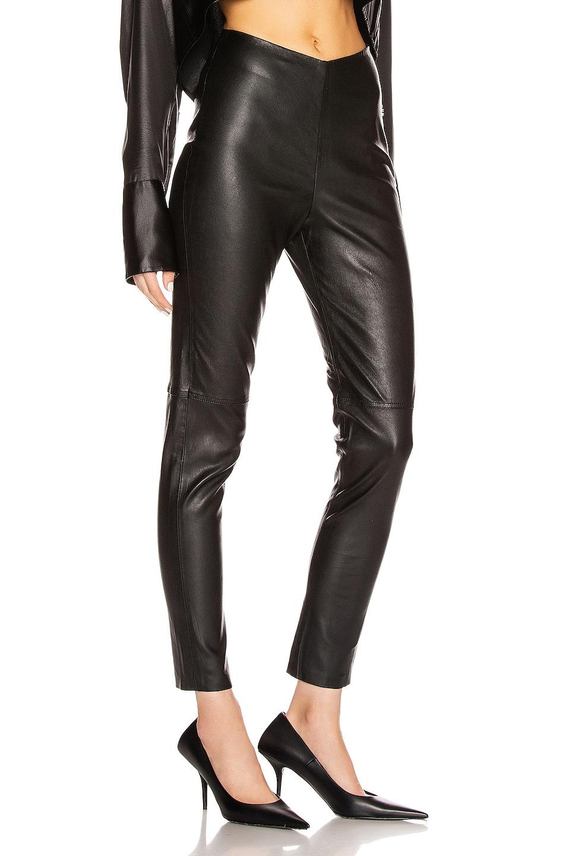 Image 2 of GRLFRND Maci Leather Legging in Black