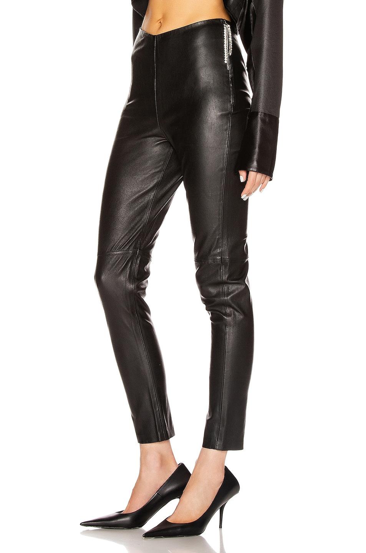 Image 3 of GRLFRND Maci Leather Legging in Black