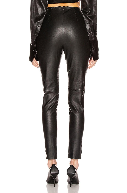 Image 4 of GRLFRND Maci Leather Legging in Black
