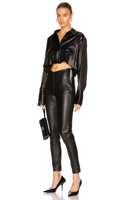 Image 5 of GRLFRND Maci Leather Legging in Black