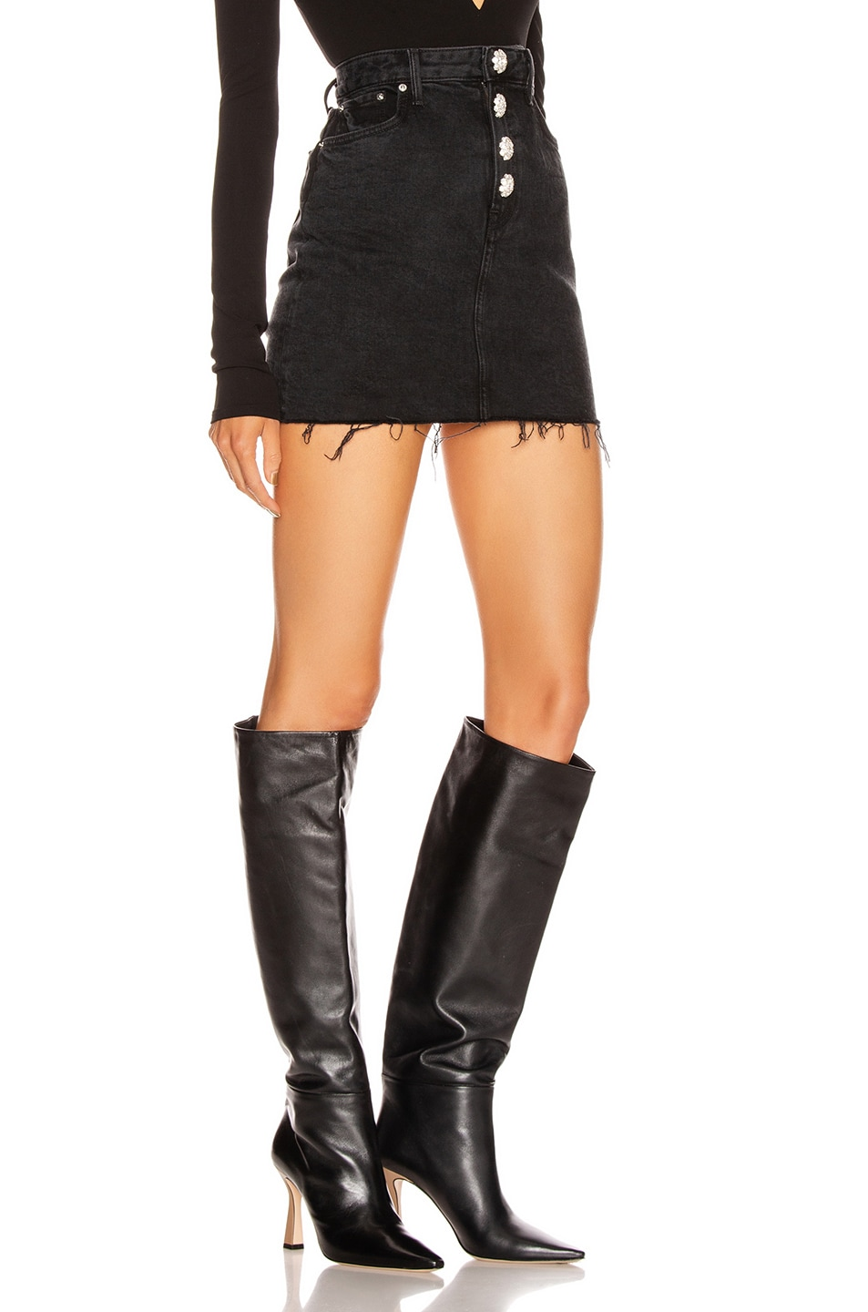 Image 2 of GRLFRND Reese High Rise Straight Mini Skirt in Give Me Your Heart