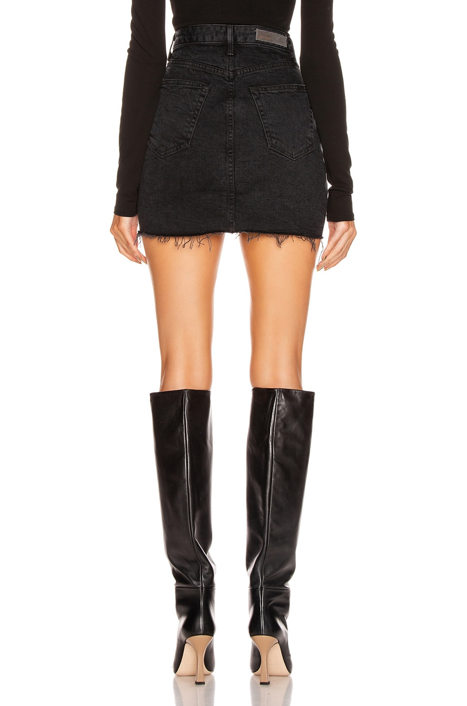 Image 3 of GRLFRND Reese High Rise Straight Mini Skirt in Give Me Your Heart