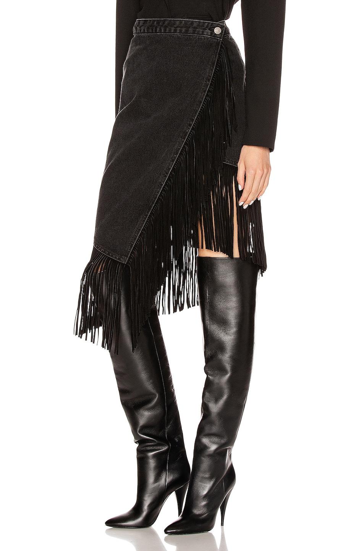 Image 3 of GRLFRND Indira Fringe Wrap Skirt in Never Enough