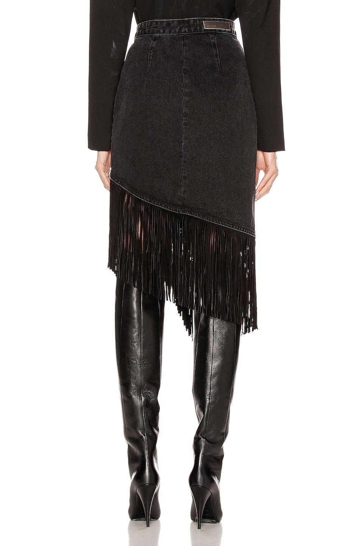 Image 4 of GRLFRND Indira Fringe Wrap Skirt in Never Enough