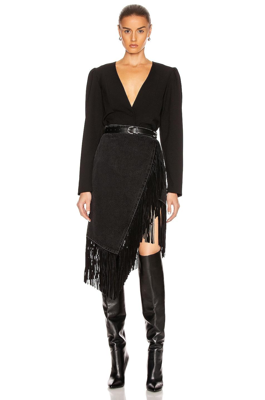 Image 5 of GRLFRND Indira Fringe Wrap Skirt in Never Enough