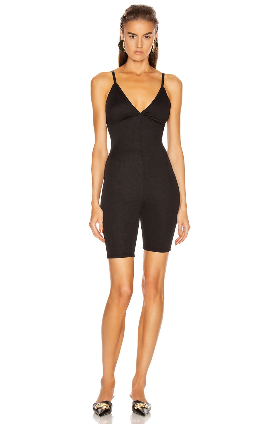 Image 1 of GRLFRND Amiga Playsuit in Black