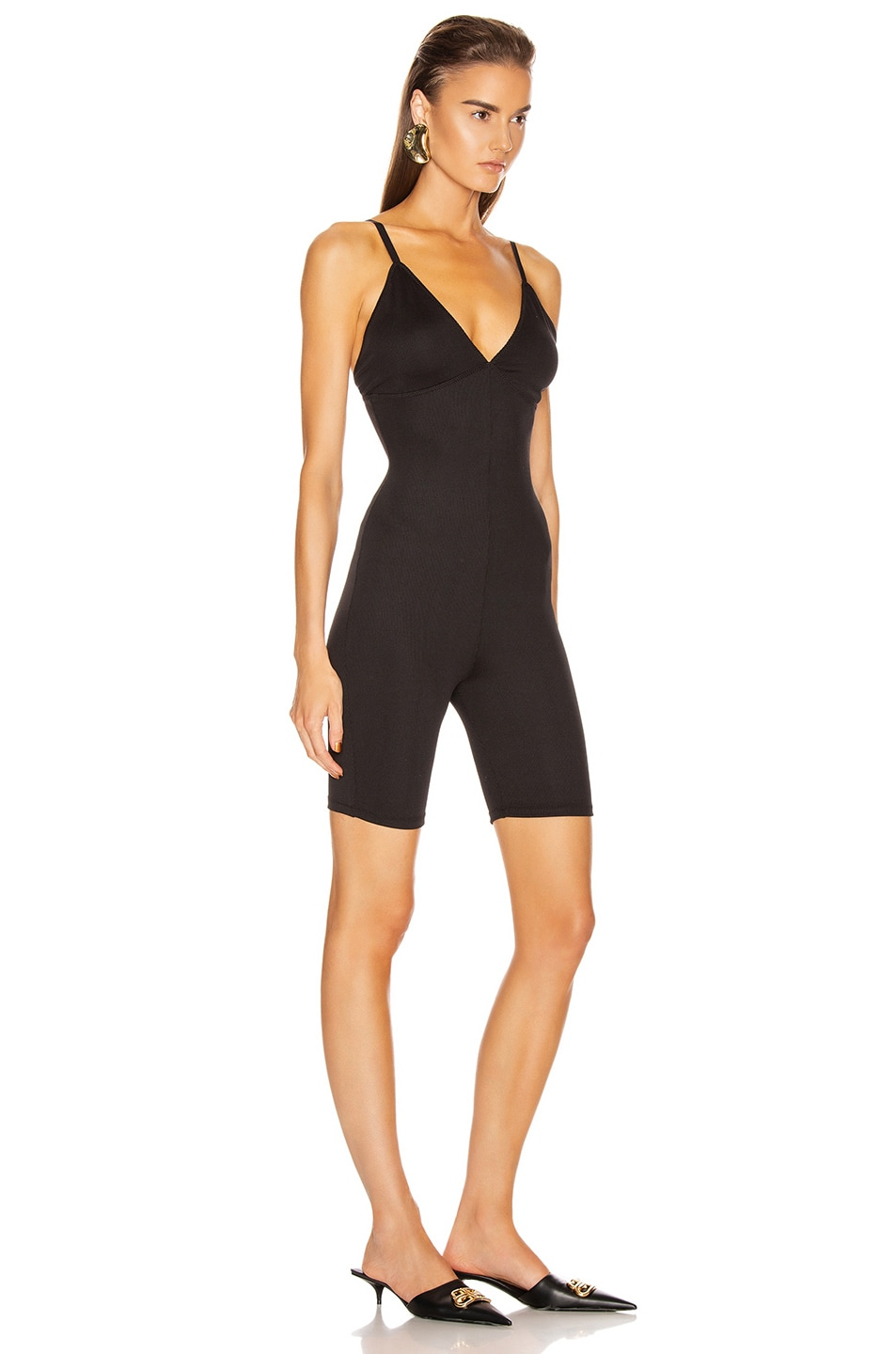 Image 2 of GRLFRND Amiga Playsuit in Black