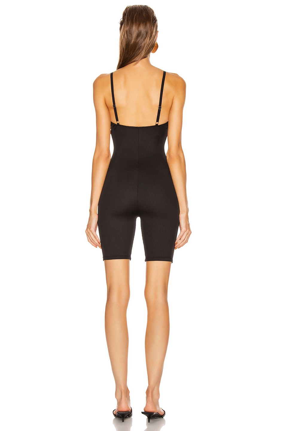 Image 3 of GRLFRND Amiga Playsuit in Black