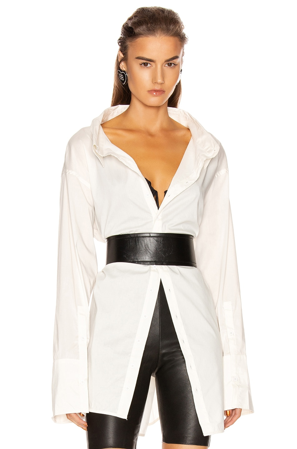 Image 1 of GRLFRND BF Button Down Blouse in White