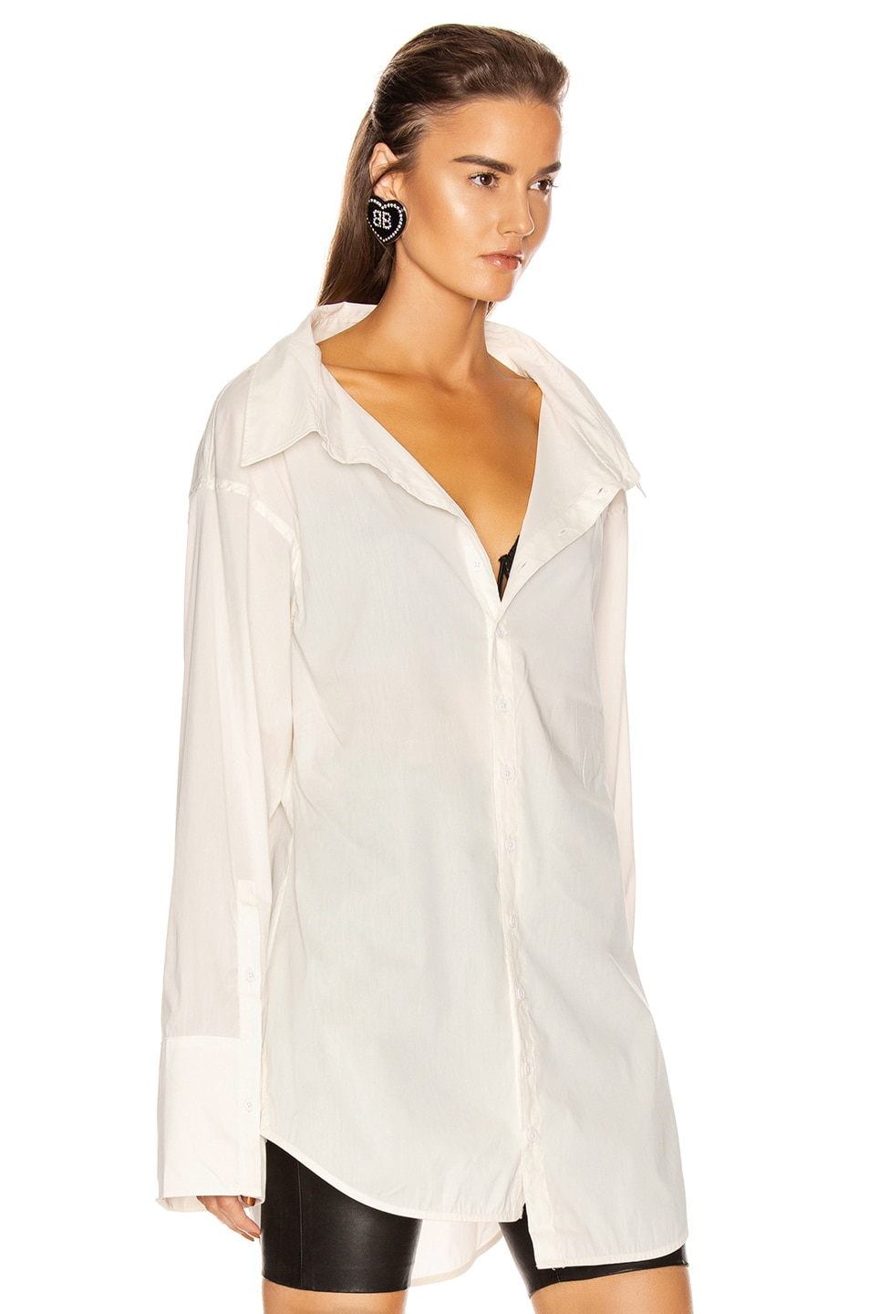 Image 3 of GRLFRND BF Button Down Blouse in White