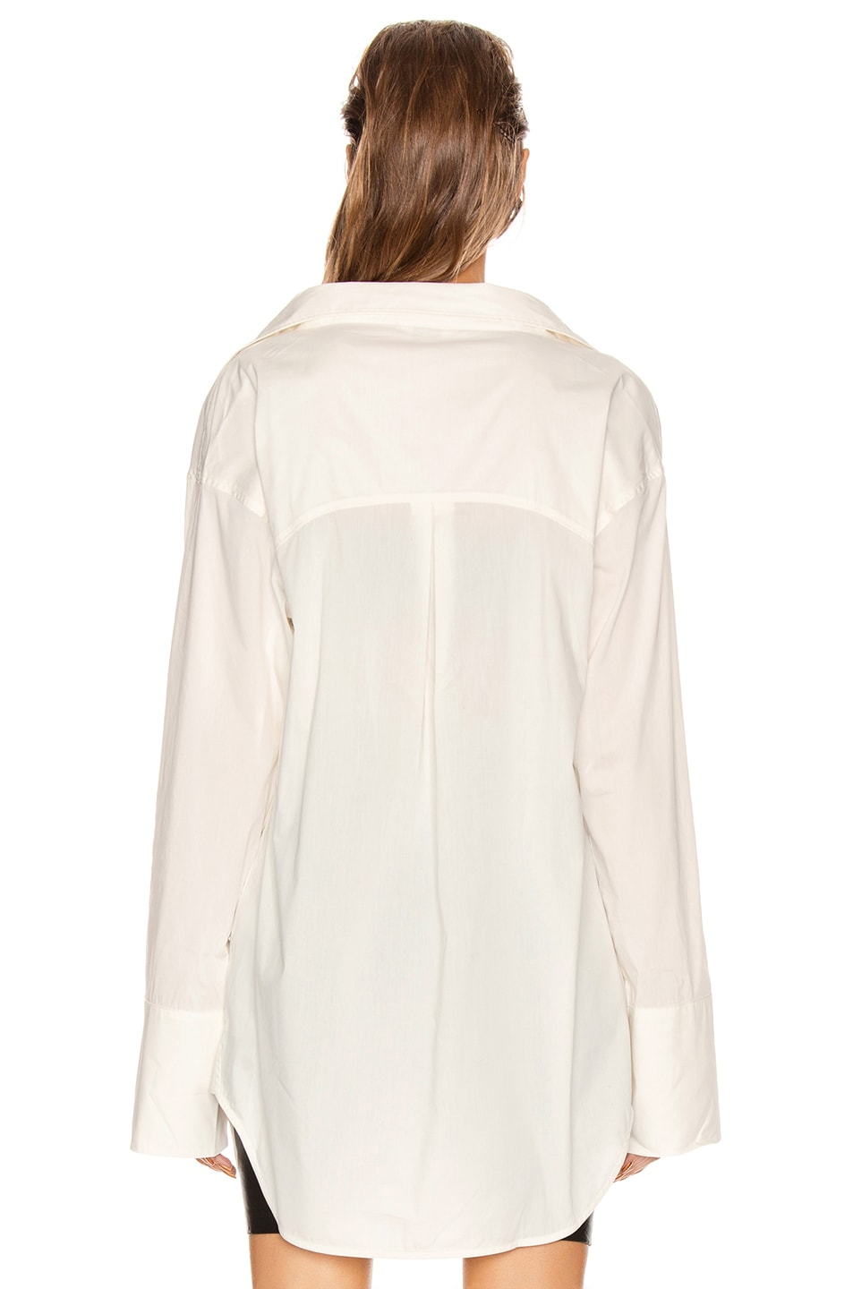 Image 4 of GRLFRND BF Button Down Blouse in White