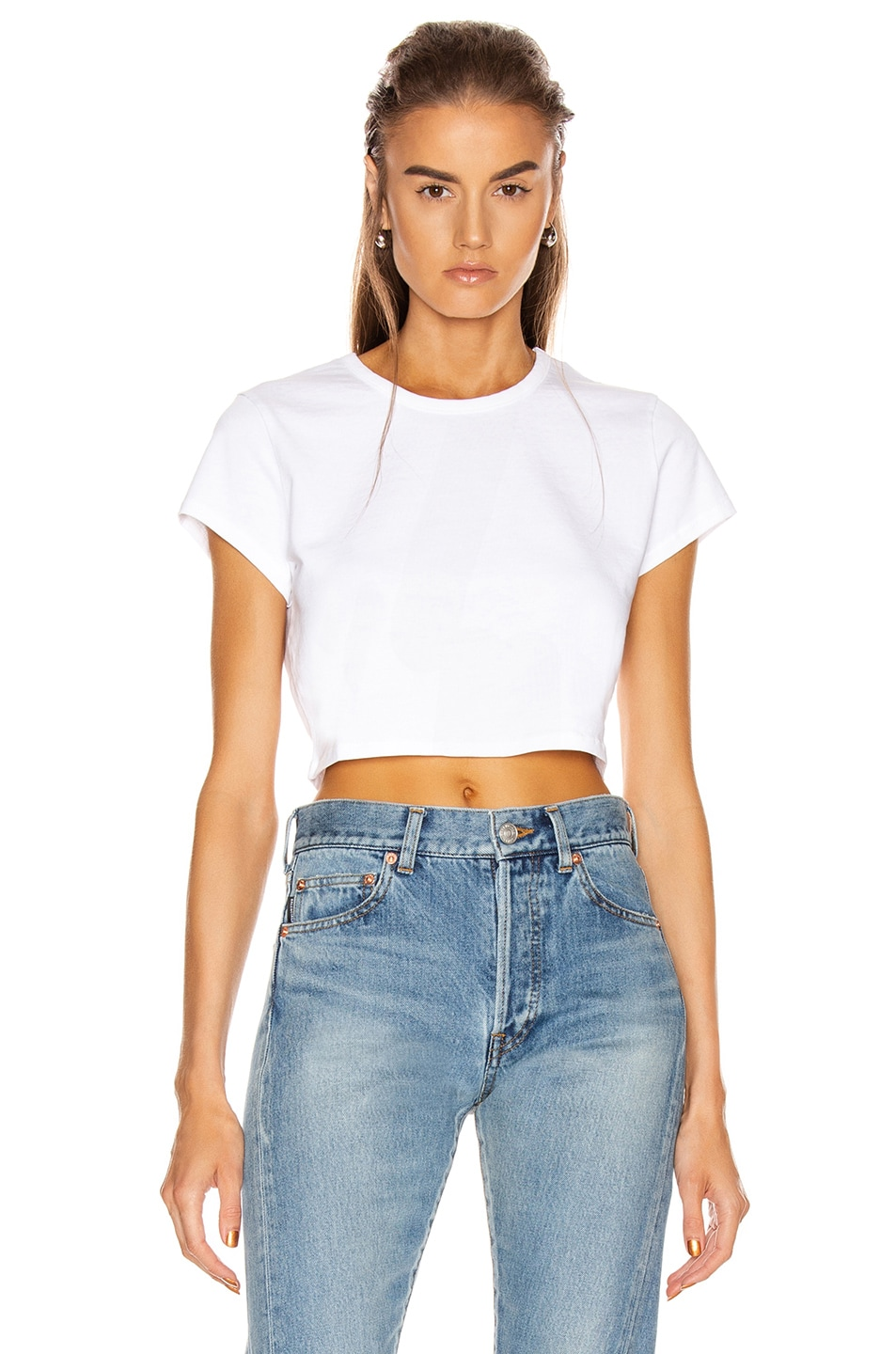 Image 1 of GRLFRND Little Cropped Tee in White