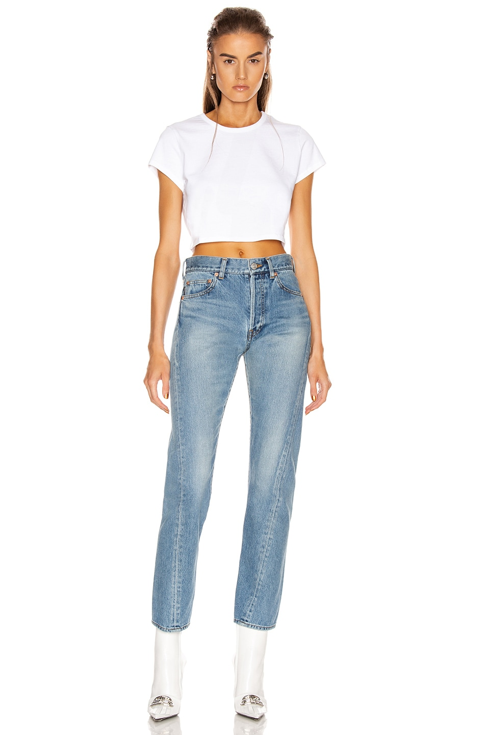 Image 4 of GRLFRND Little Cropped Tee in White
