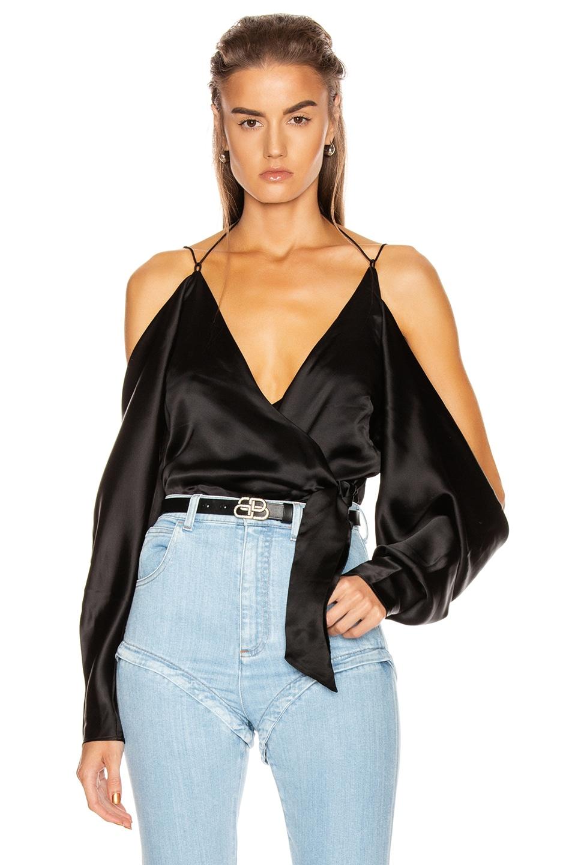 Image 1 of GRLFRND Rowen Blouse in Black