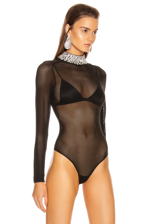 Image 3 of GRLFRND Dasha Bodysuit in Black