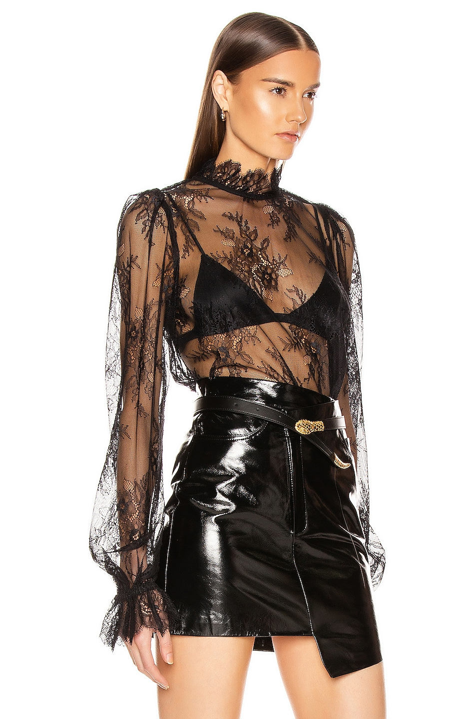 Image 2 of GRLFRND Lacey Blouse in Black