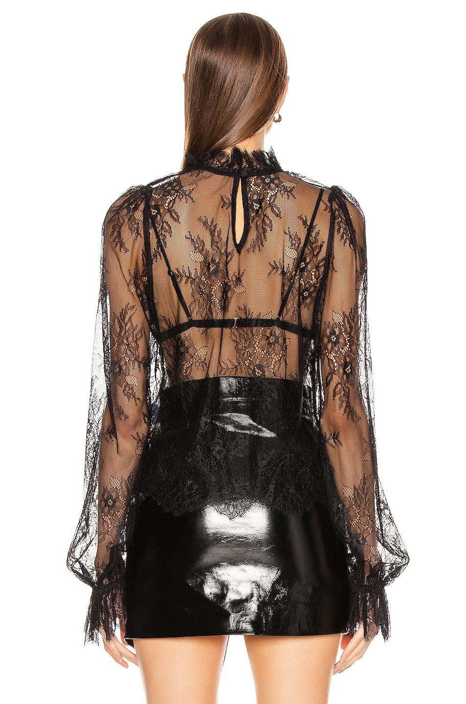 Image 3 of GRLFRND Lacey Blouse in Black