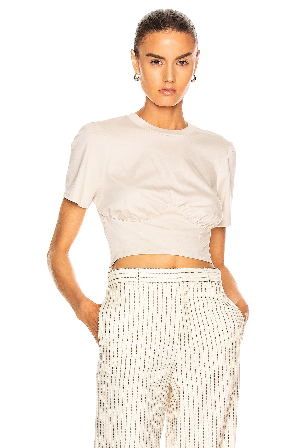 Image 1 of GRLFRND Frank Bustier Tee Shirt in Taupe