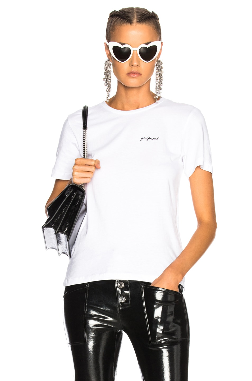 Image 1 of GRLFRND for FWRD Moss Graphic Tee in Fille Blanche