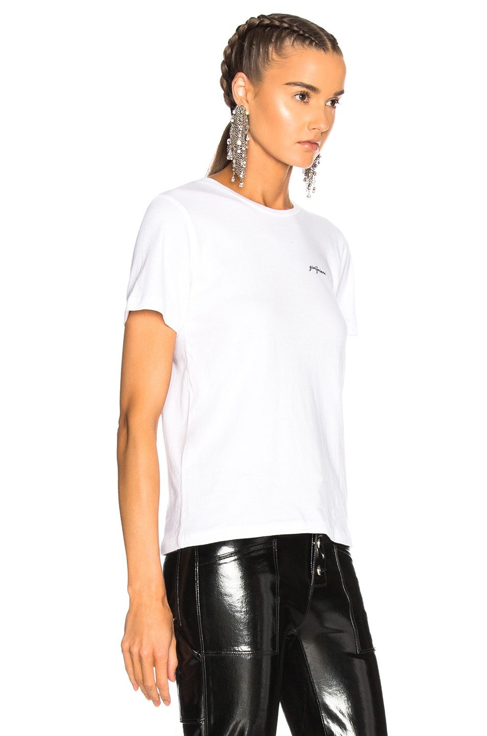 Image 2 of GRLFRND for FWRD Moss Graphic Tee in Fille Blanche