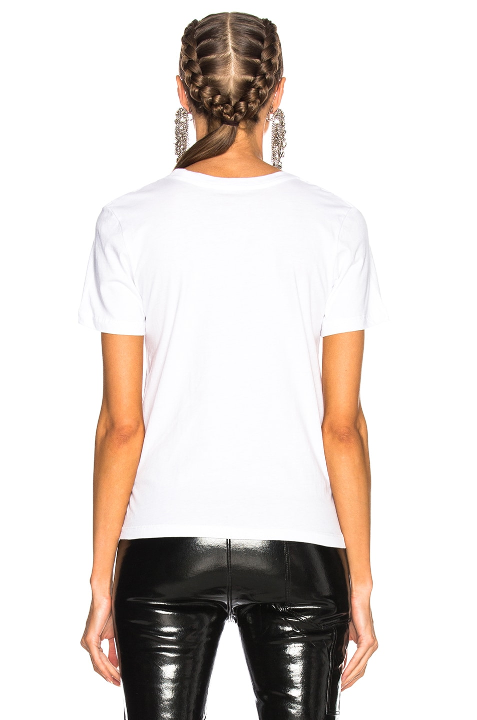Image 3 of GRLFRND for FWRD Moss Graphic Tee in Fille Blanche