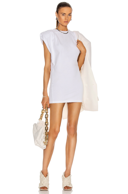 Image 1 of GRLFRND Muscle Crew Mini Dress in White