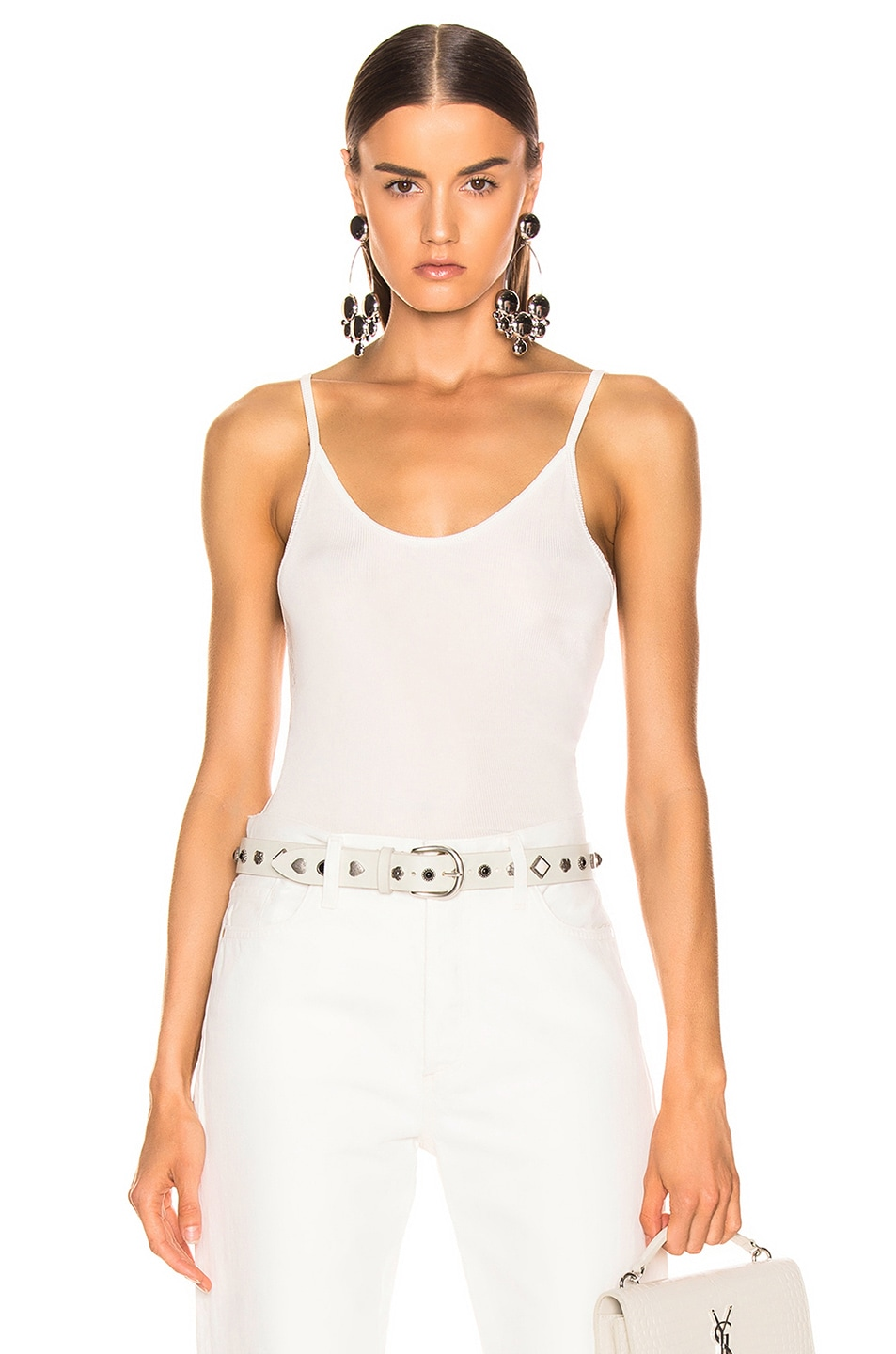 Image 1 of GOLDSIGN Spaghetti Strap Tank in Natural