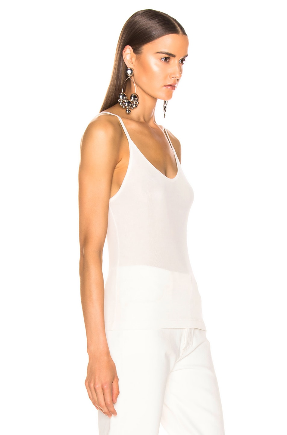 Image 2 of GOLDSIGN Spaghetti Strap Tank in Natural